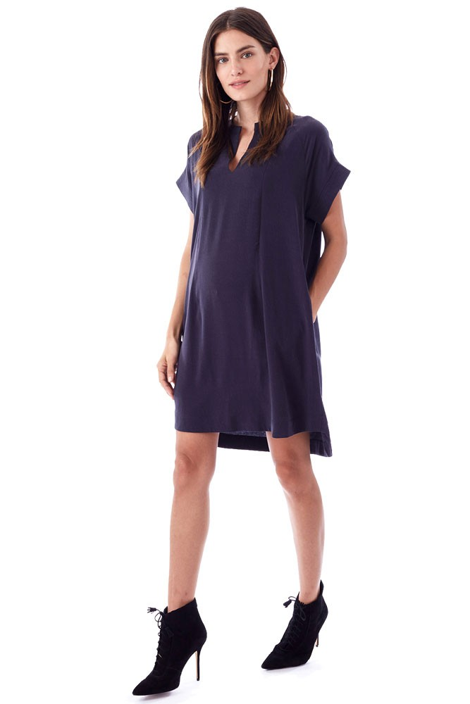 Cybelle Maternity & Nursing Woven Dress (Charcoal)