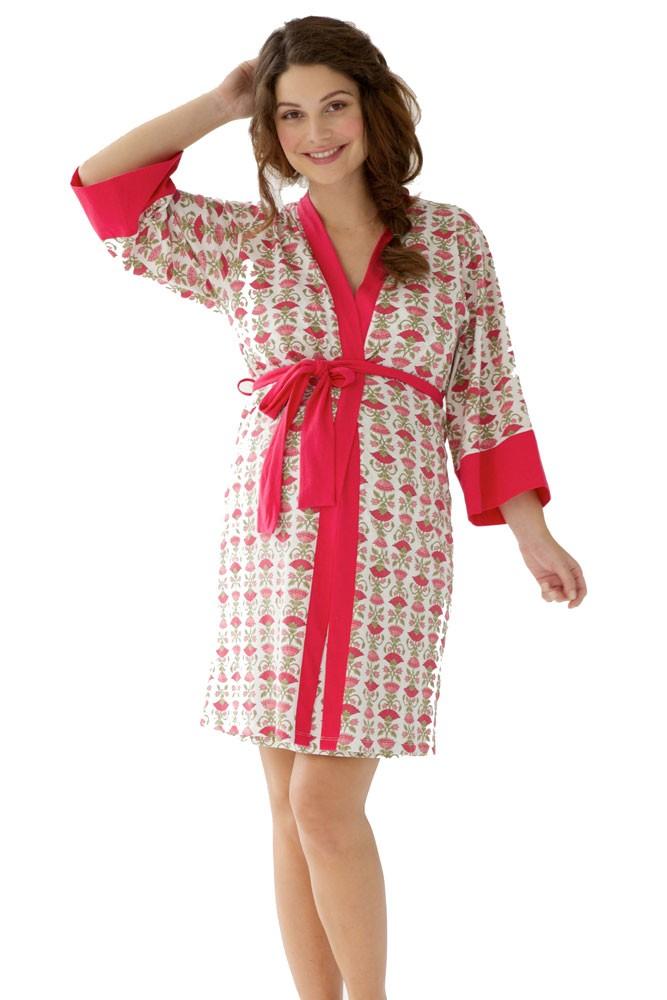 a6a638744a4b Belabumbum Padma 2-Piece Maternity   Nursing Chemise   Robe Set in Padma