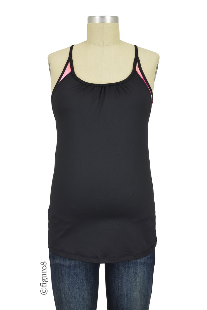 Caily Energy Maternity Amp Nursing Exercise Tank In Black By
