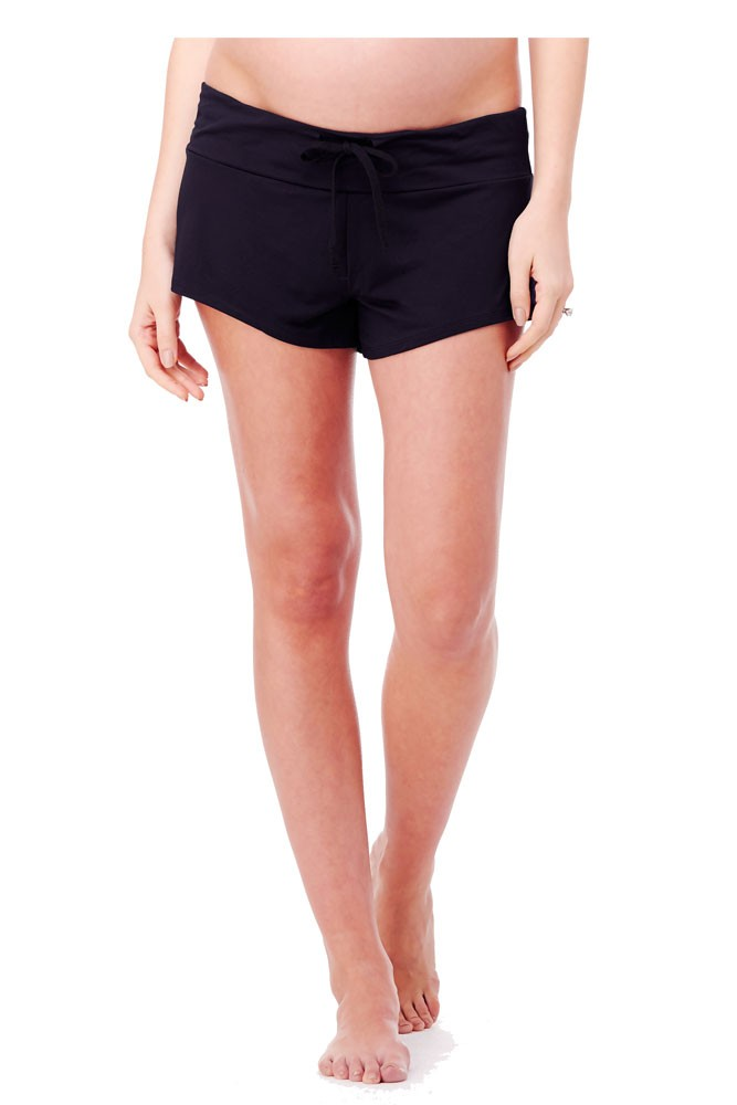 Ingrid & Isabel Lounge Maternity Short (Jet Black)