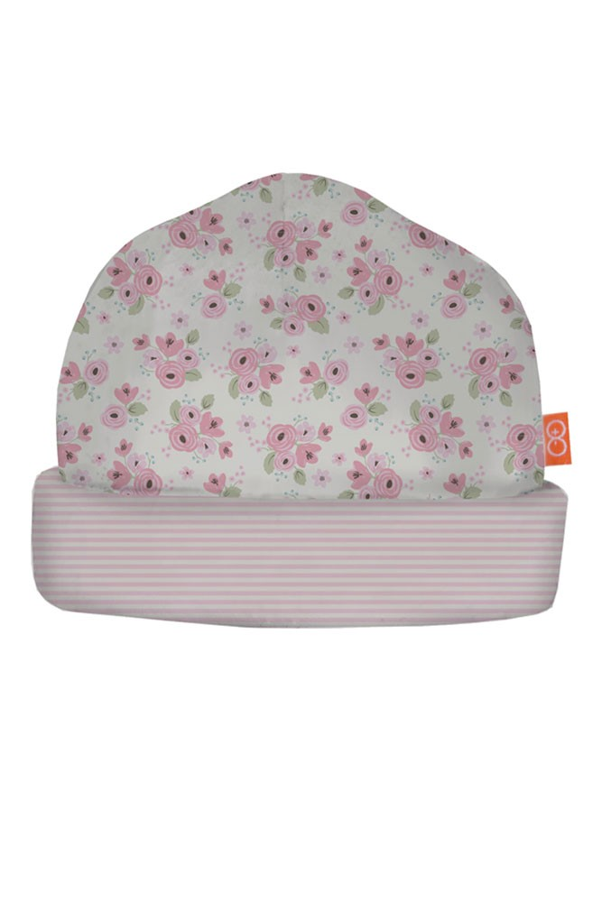 Magnificent Baby Magnetic Me™ Baby Girl Reversible Hat (Kensington Floral)