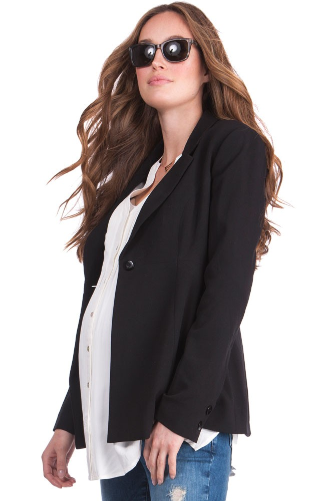 17b8a4dab5033 Seraphine Cadence Ponte Maternity Jacket in Black