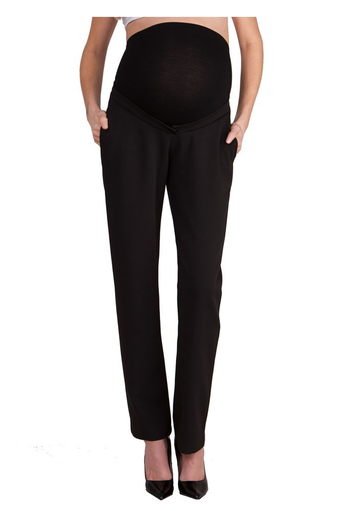 Seraphine Charlyn Ponte Maternity Trousers (Black)