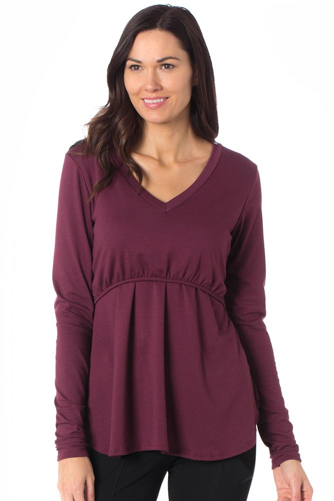 Majamas Soiree Maternity & Nursing Top (Zinfandel)