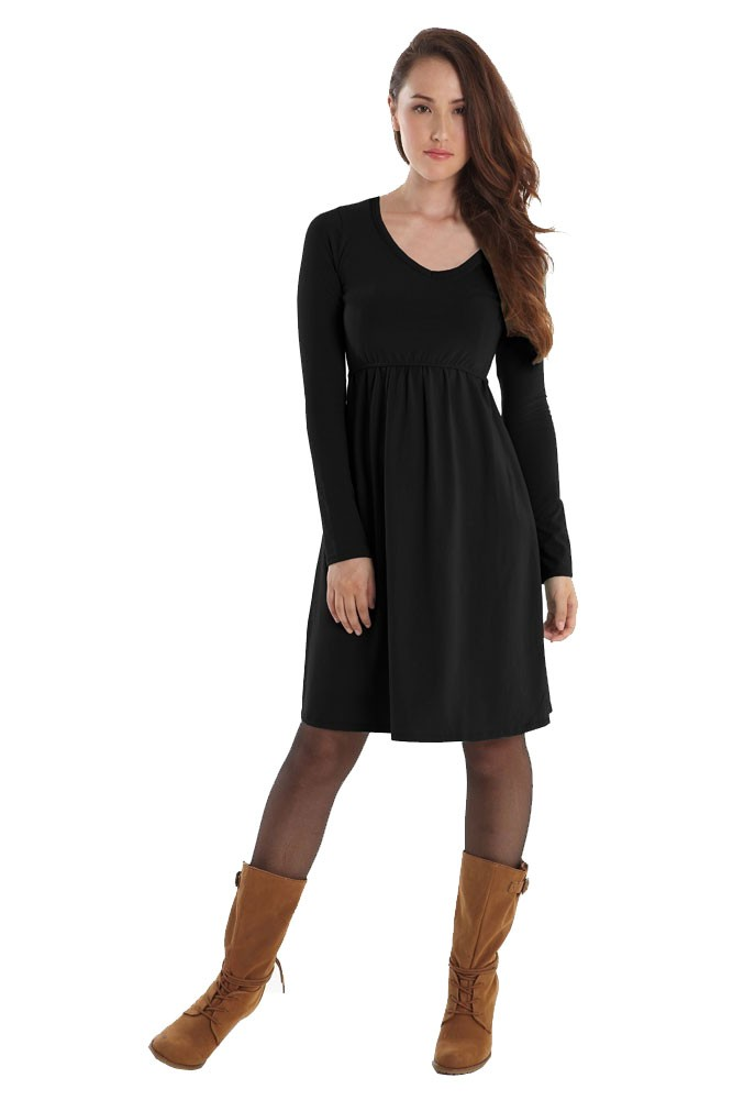 901f2381cad Avery Organic Must-Have Long Sleeve Nursing Dress in Black by ...