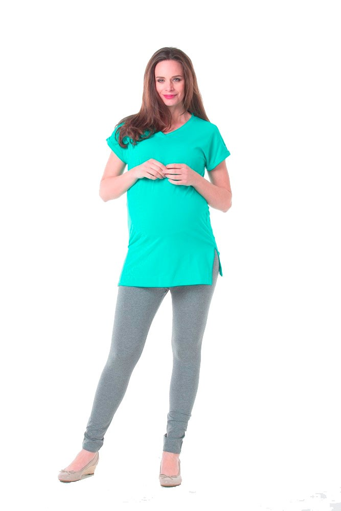 Anti-Mosquito Permethrin Treated Maternity Tee (Ceramic)