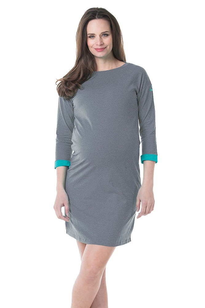10a435e92593b2 Anti-Mosquito Permethrin Treated Maternity Dress in Charcoal by Bove by Spring  Maternity