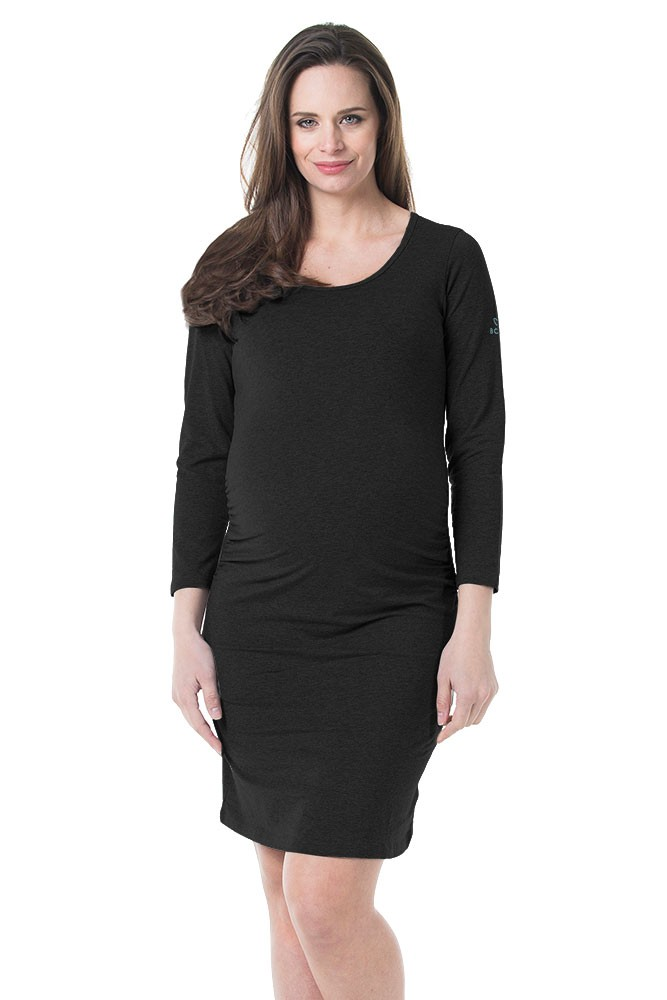 Anti-Mosquito Permethrin Treated Maternity Dress (Black)