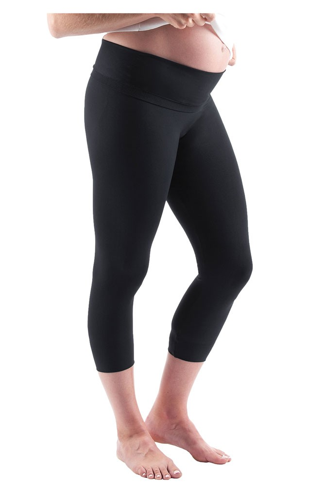 Belly Bandit Bump Support™ Capri Leggings (Black)