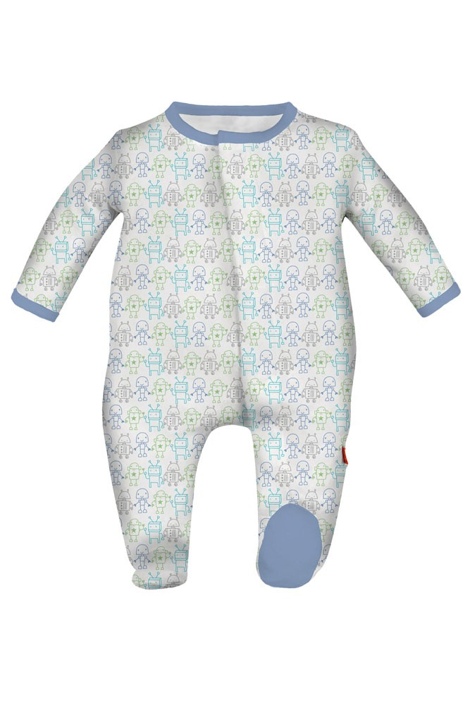 Magnificent Baby Magnetic Me™ Baby Boy Modal Footie (Robots)