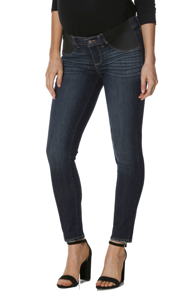 Paige Denim Verdugo Ankle Maternity Jeans with Elastic Inset (Revere)