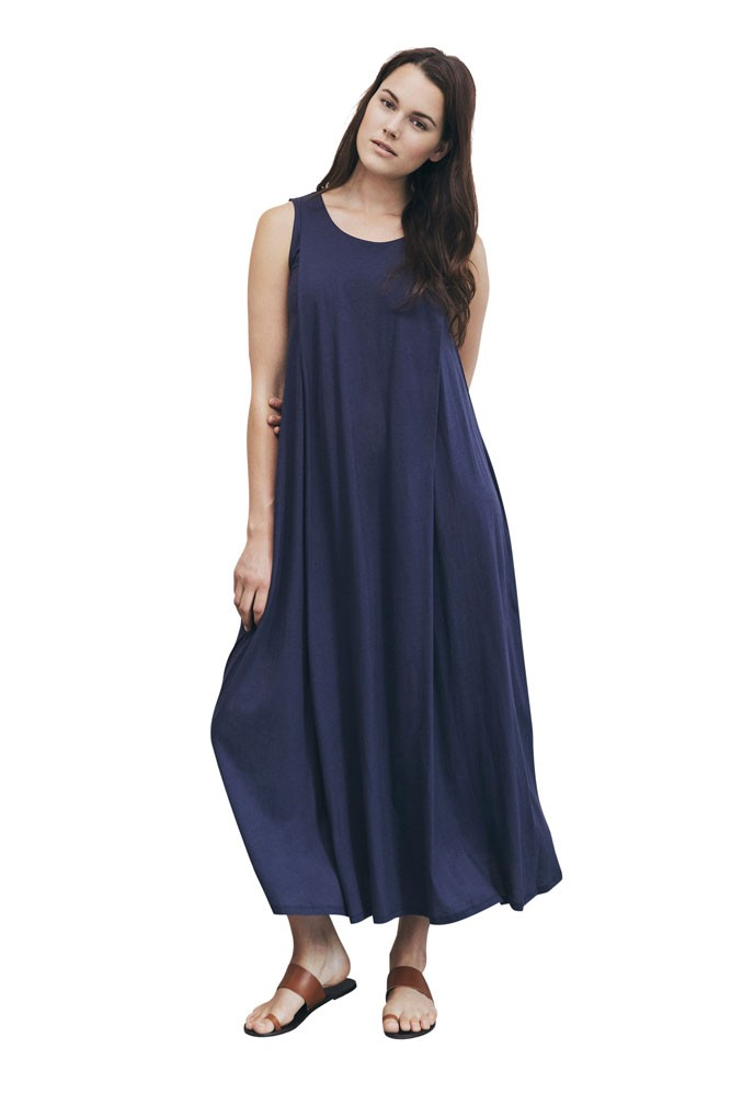 Boob Design Air Long Organic Maternity & Nursing Dress (Soft Ink)