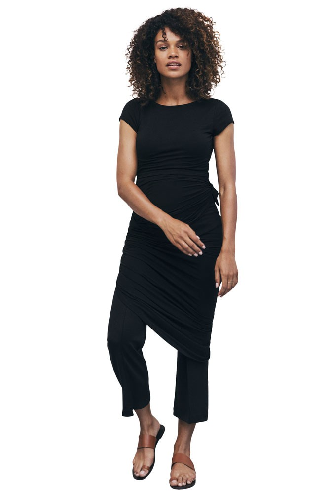 Boob Design Emma Maternity & Nursing Dress (Black)