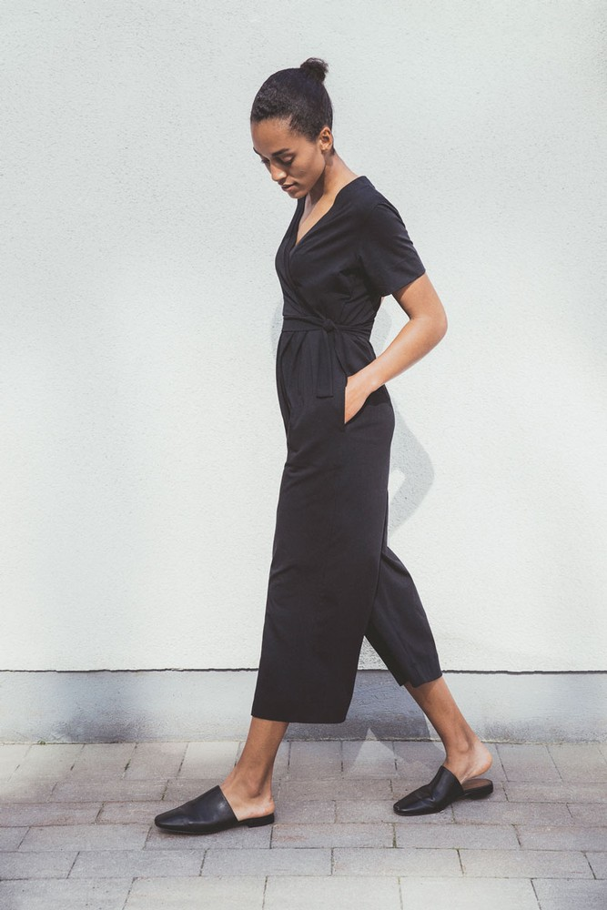 Boob Design Amelia Organic Maternity & Nursing Jumpsuit (Black)