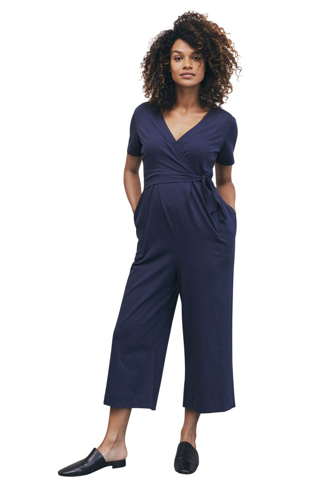 Boob Design Amelia Organic Maternity & Nursing Jumpsuit (Soft Ink)