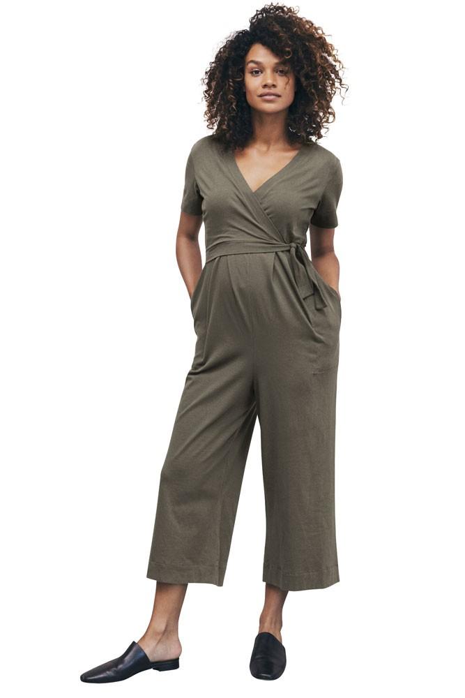 5caeacee708 Boob Design Amelia Organic Maternity   Nursing Jumpsuit in Olive leaf