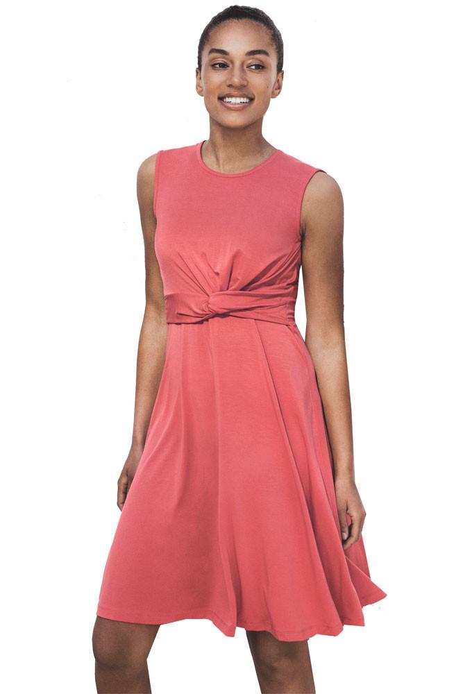 5910999b610 Boob Design Twist Maternity   Nursing Dress in Faded Rose