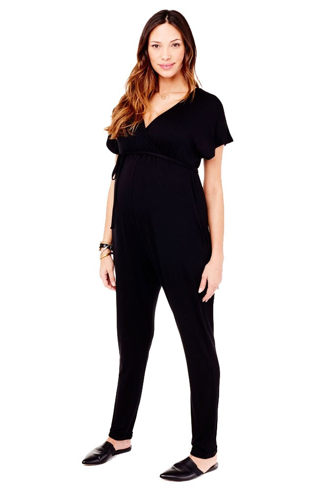 2321f1a7b43 Ingrid & Isabel Crossover Maternity & Nursing Friendly Jumpsuit in Black