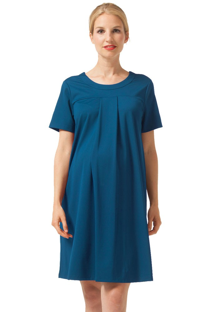 Florence Lightweight Ponte Knit Maternity & Nursing Dress (Teal)