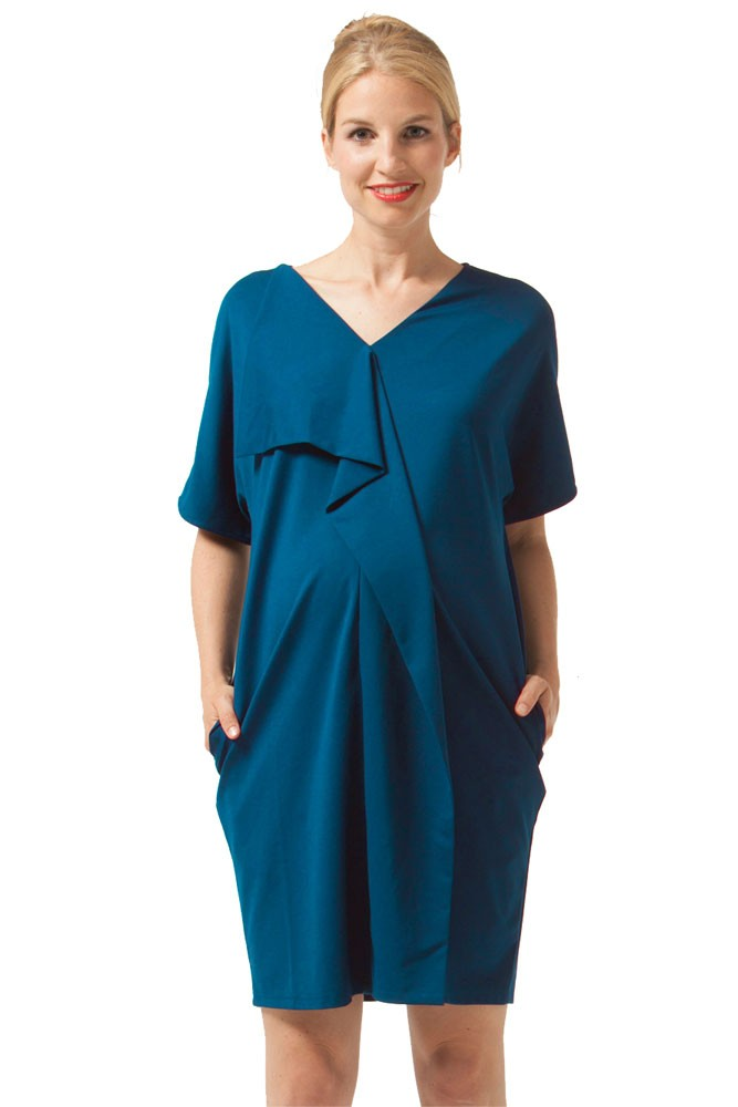 Fayme Maternity & Nursing Dress (Teal)