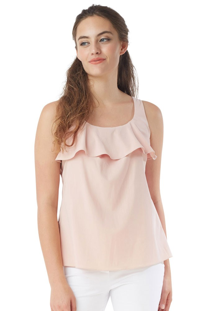 Frou Ruffle Nursing Blouse (Blush)