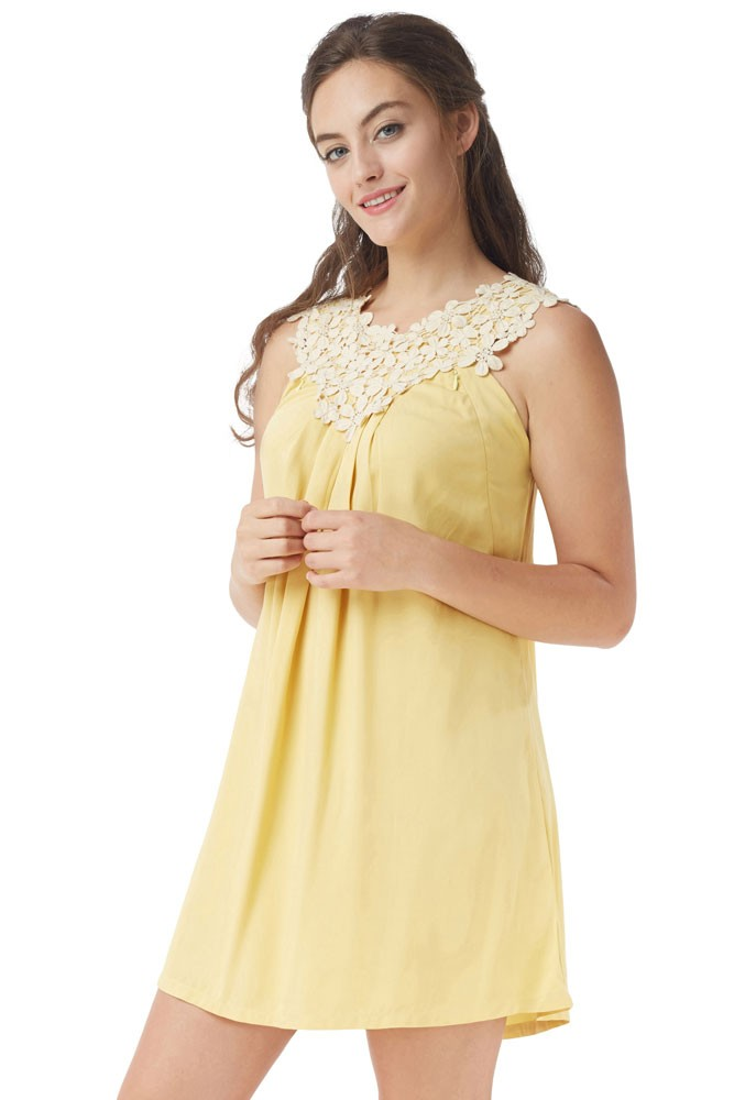 262a37954a9 Bloom Lace Applique Maternity   Nursing Dress in Meadow Gold by ...