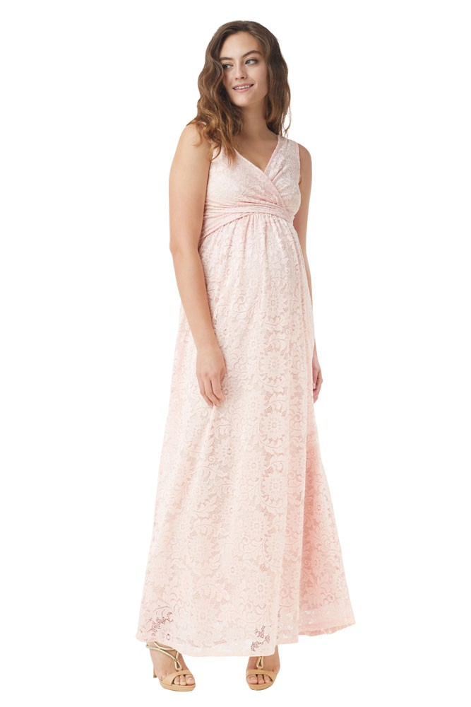 f91e5bd18 Chantilly Lace Maternity   Nursing Maxi Dress in Blush Pink by ...