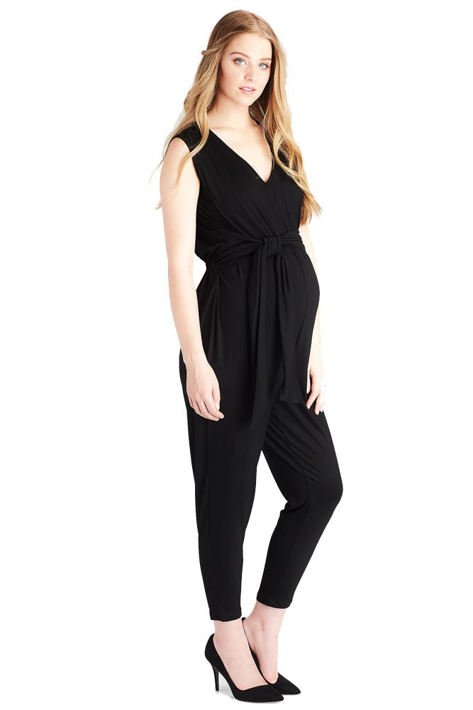 7f337892cfd Lily Maternity Jogger Jumpsuit in Black by Lilac Maternity   More