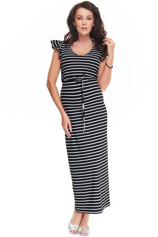 4d9ca39b97 Poppy Flutter Sleeve Maternity   Nursing Dress in Stripes by 9fashion