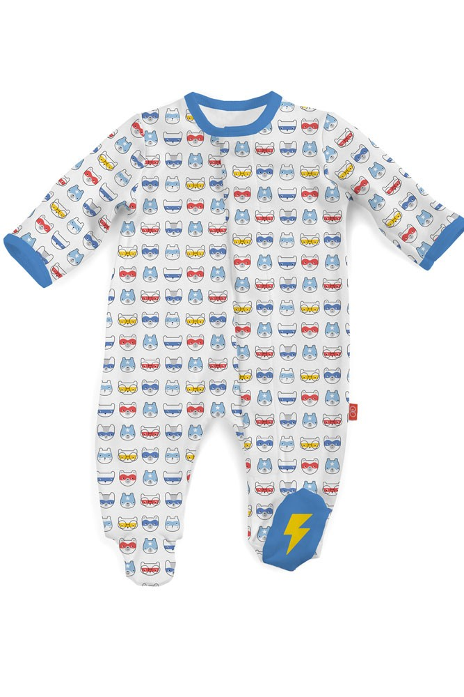 Magnificent Baby Magnetic Me™ My Little Super Hero Baby Footie (Superhero Masks)
