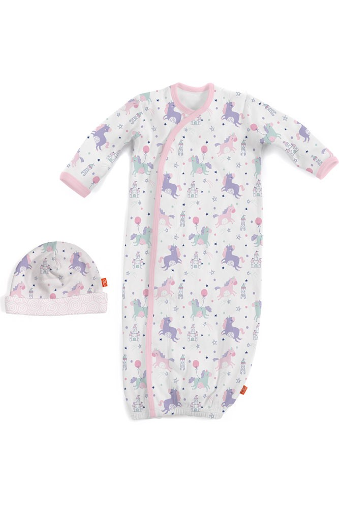 Magnificent Baby Magnetic Me™ Once Upon A Time Baby Girl Gown & Hat Set (Once Upon A Time)