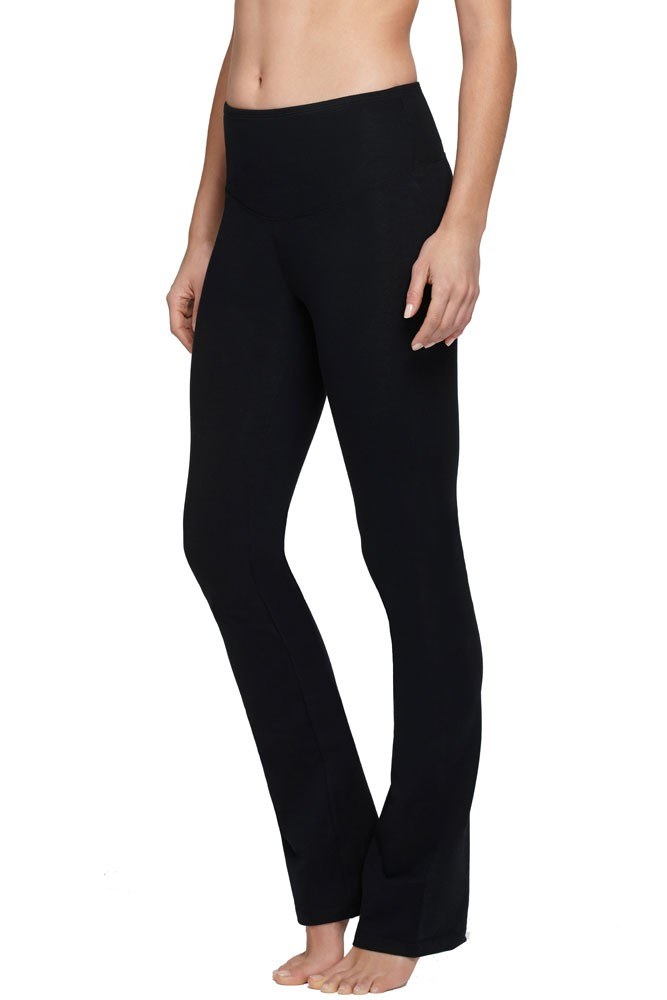 Yummie Tummie Jodi Boot Leg Cotton Control Legging (Black)
