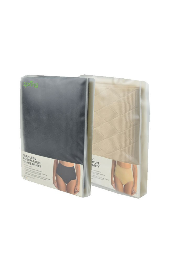 Malva Seamless Postpartum Compression Shaping Panty - 2 Pack (Black & Nude)