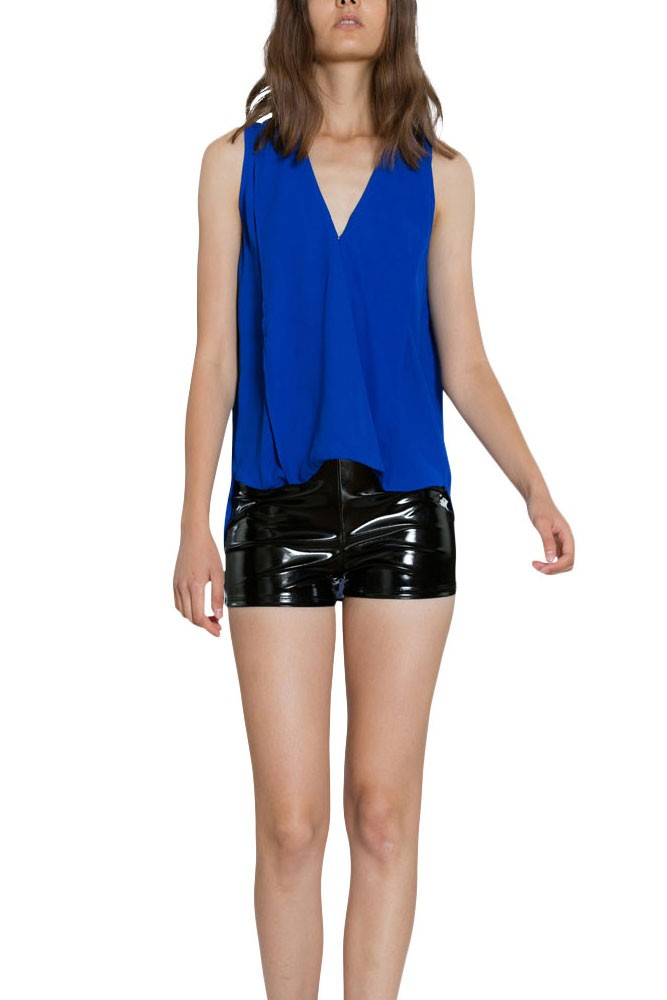 Carrie Sleeveless Flowy Woven Nursing Top (Royal Blue)