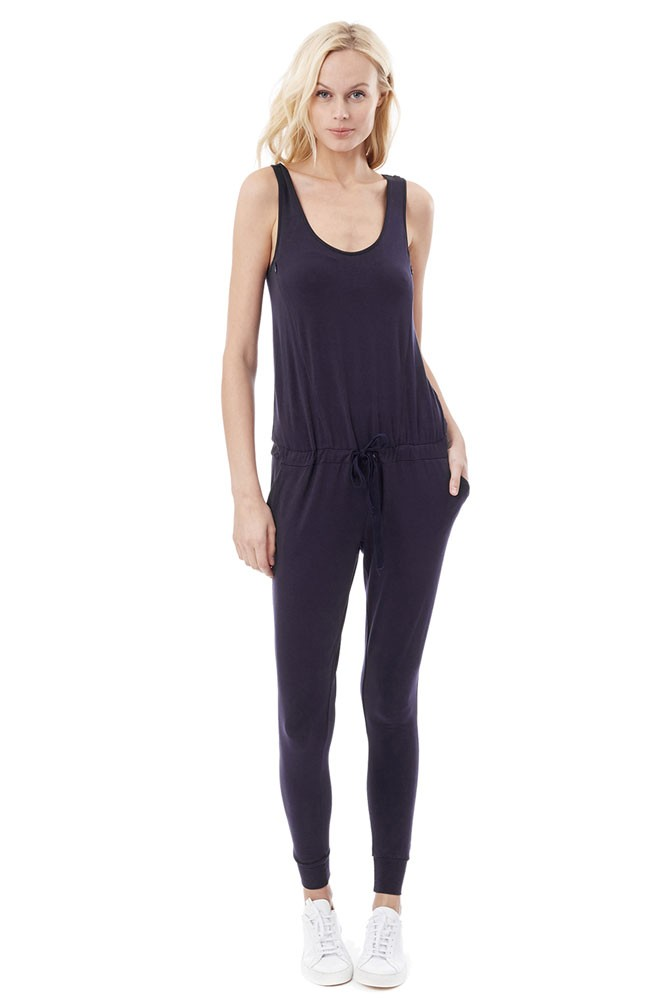 Marni Nursing Jumpsuit (Navy Blue)