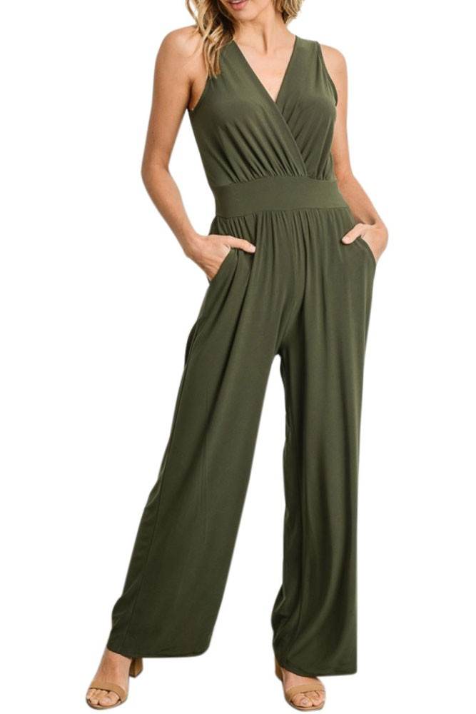 Erika Nursing Friendly Jumpsuit (Olive)
