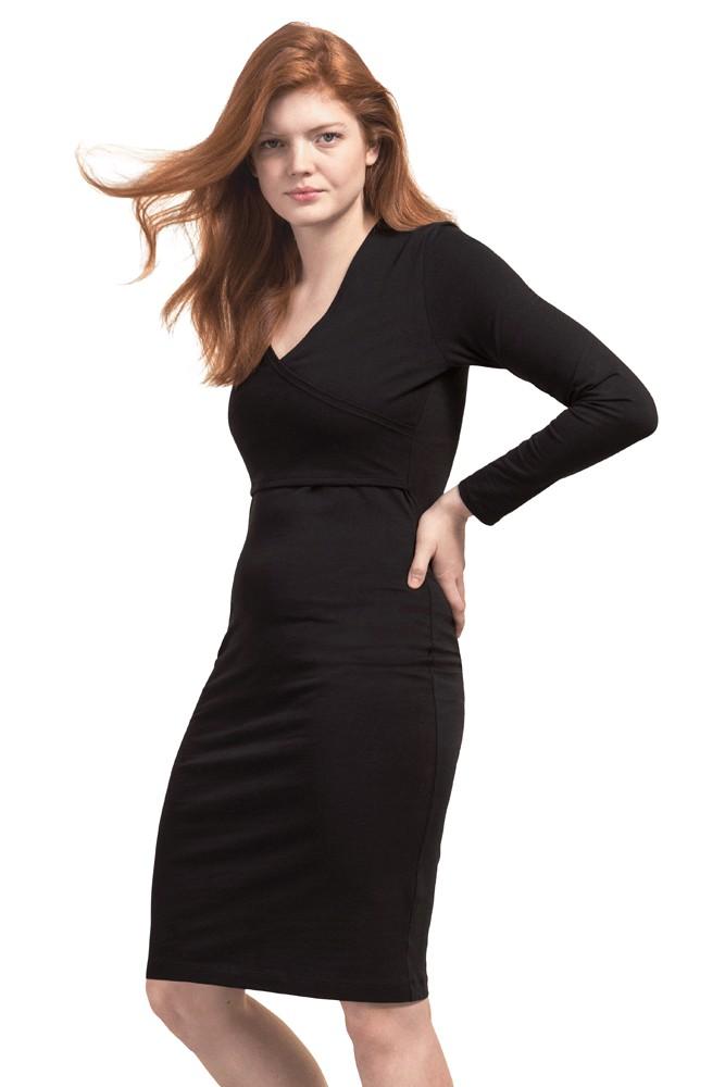 051ccd2292 Design Madison Anic Long Sleeve Faux Wrap Nursing Dress In Black