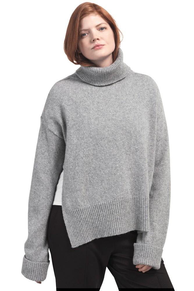 db75d43a07 Boob Design Jamie Wool Knit Nursing Sweater in Grey Melange