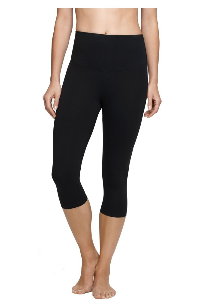 Yummie Tummie Talia Cotton Control Crop Legging (Black)