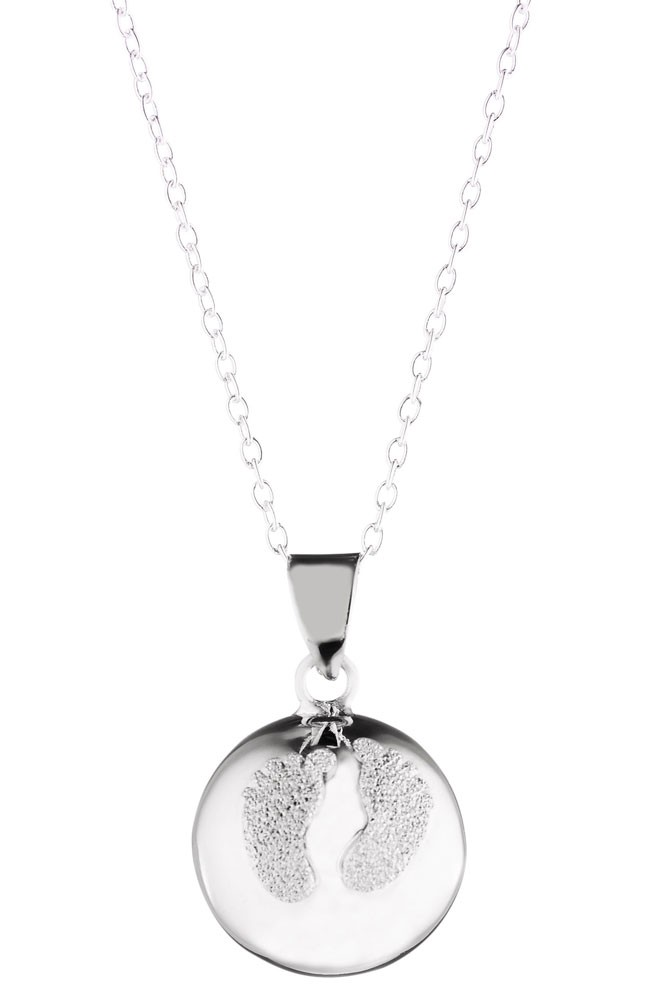 d967059ab7cf9 Maternity Bola Necklace with Diamond Powder Feet in Diamond by Cache ...