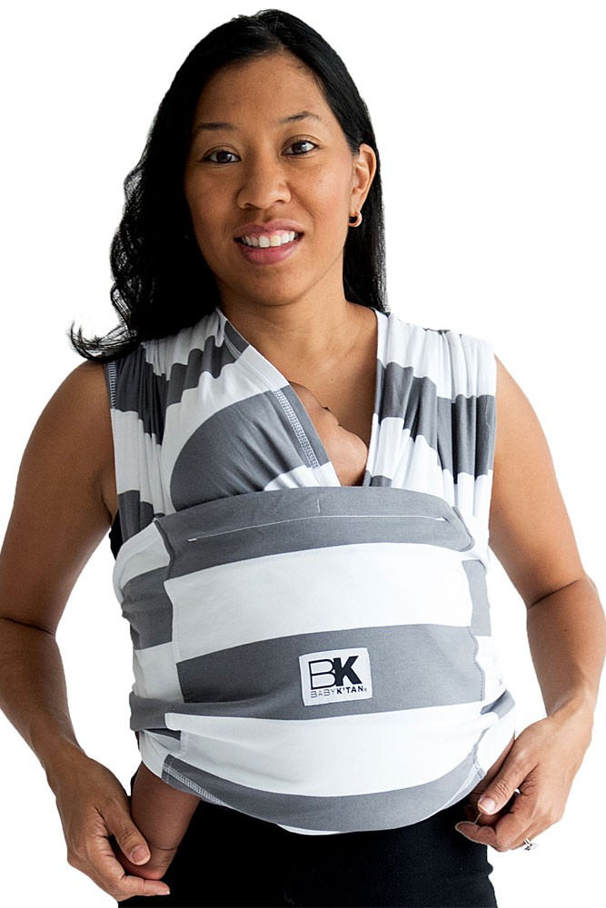 Baby K'tan Baby Carrier- Printed (Charcoal Stripe)