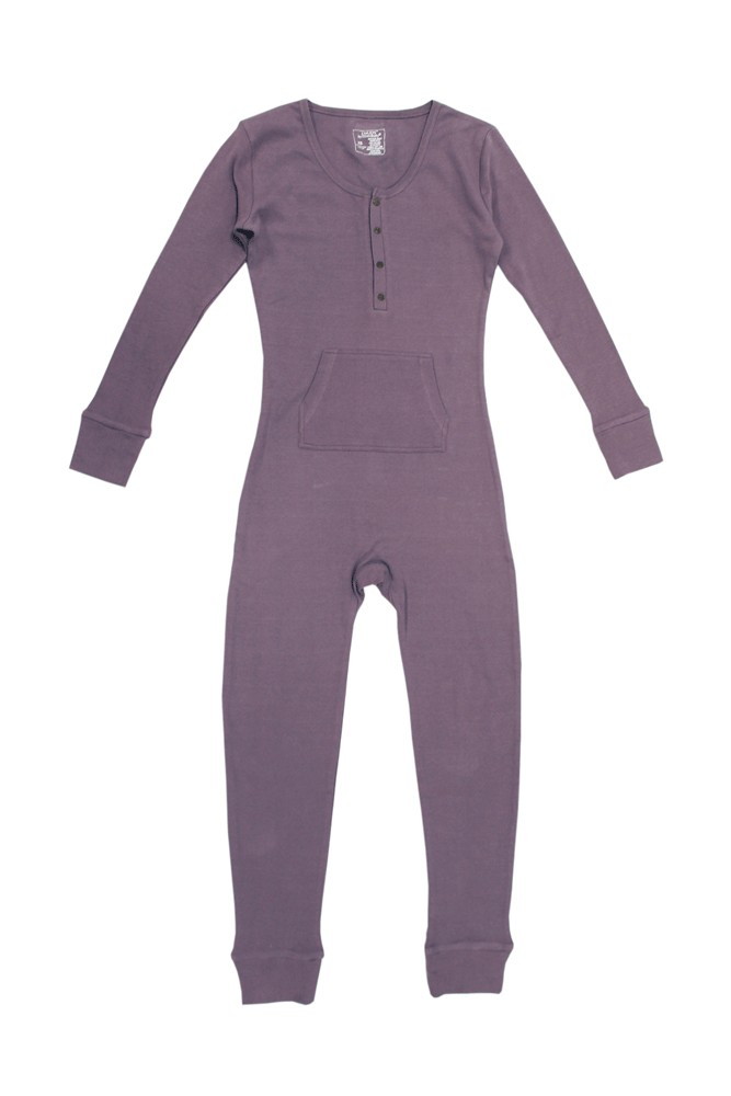 L'ovedBaby Thermal Cotton Organic Women's Onesie (Amethyst)