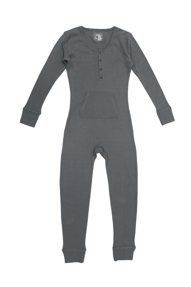 L'ovedBaby Thermal Cotton Organic Women's Onesie (Graphite)