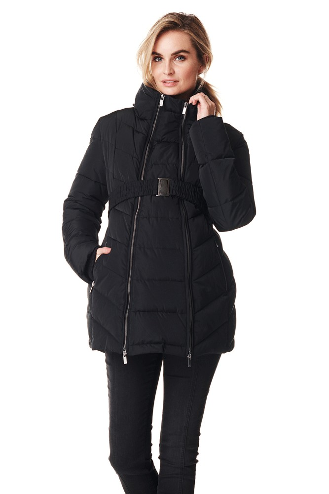 Lenny 3-in-1 Maternity & Baby Wearing Coat (Black)