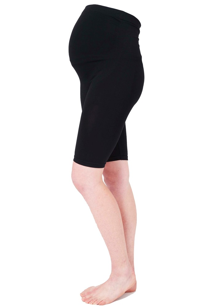 Ripe Maternity Seamless Belly Support Maternity Shorts (Black)