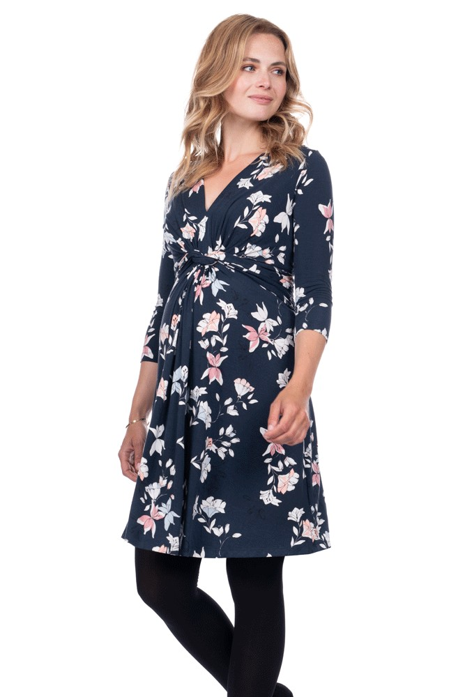 8b7abf06d5 Seraphine Carys Long Sleeve Maternity Dress in Multifloral Print