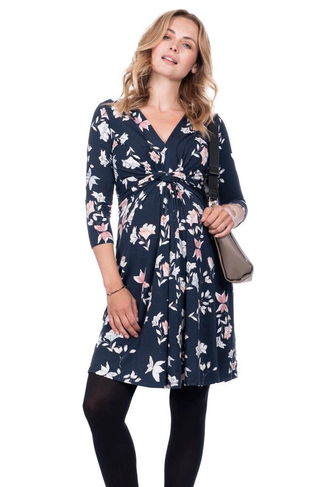 996f4bec67f Seraphine Carys Long Sleeve Maternity Dress in Multifloral Print
