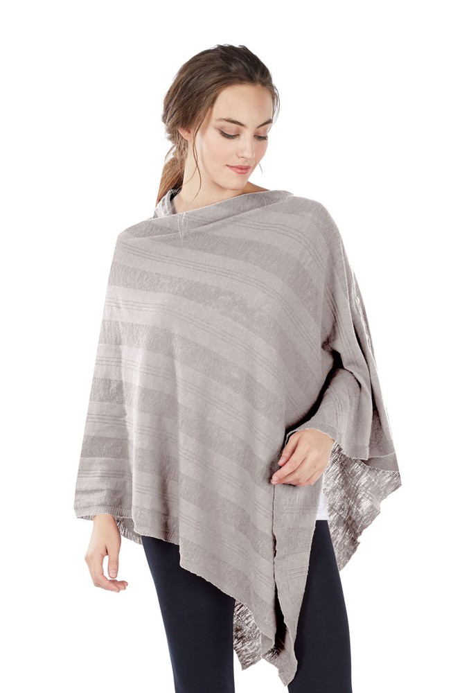 Luxe Bamboo Maternity & Nursing Wrap Shawl (Taupe Grey)