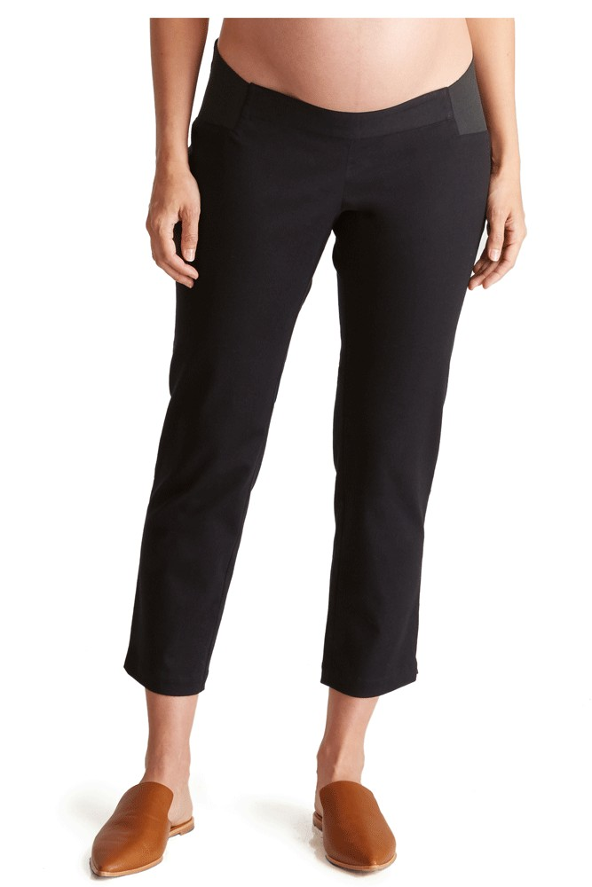 Ingrid & Isabel Woven Work Maternity Pant with Inset Panel