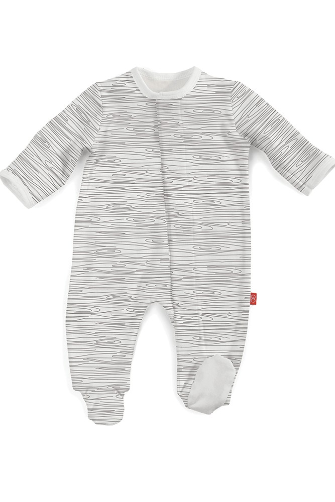 Magnificent Baby Magnetic Me™ Organic Birch Footie (Birch)